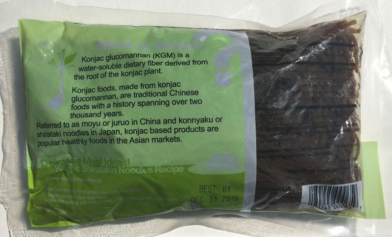 Konjac Oat Plum Fiber Pasta - Angel Hair Back Package