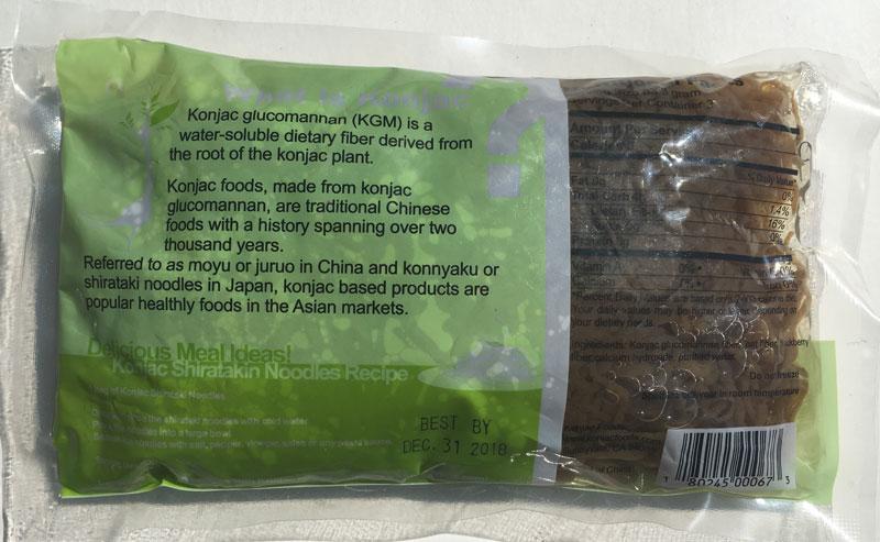 Konjac Oat BlackBerry Fiber Pasta - Angel Hair Back Package