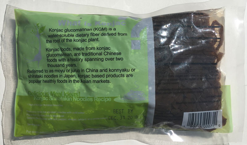 Konjac Oat Grape Fiber Pasta - Linguine Back Package